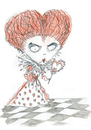 Burton's red queen